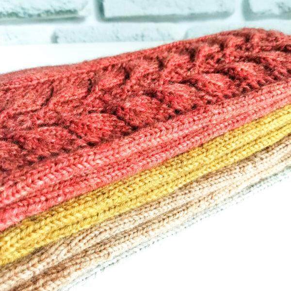 Перчатки вязаные ажурные