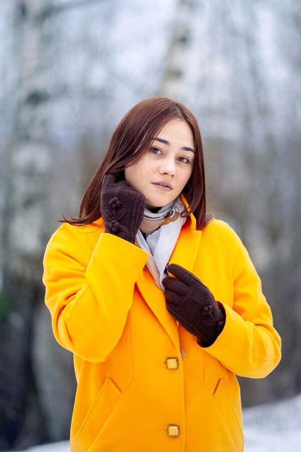 Кашемировые перчатки спицами