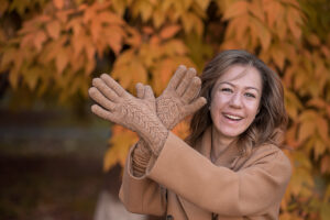 Вязаные перчатки Натарин