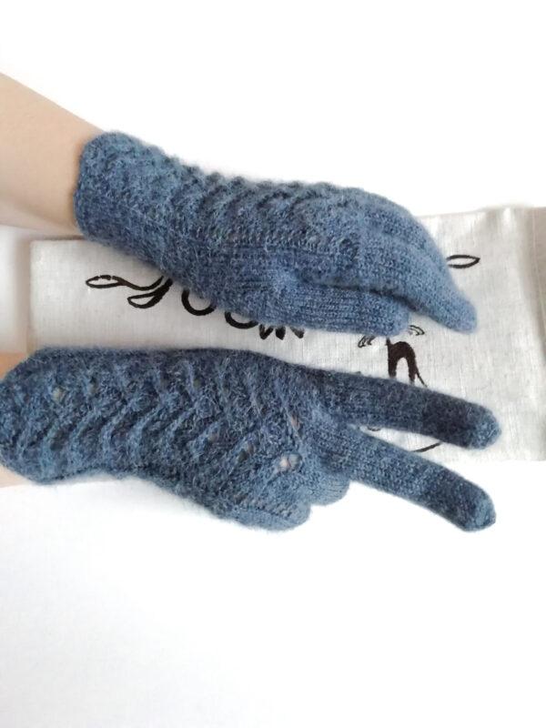 Перчатки спицами альпака