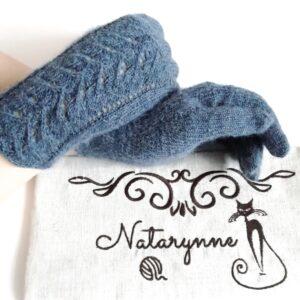 Ажурные вязаные перчатки