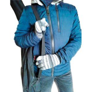 Вязаные перчатки для подростка мальчика