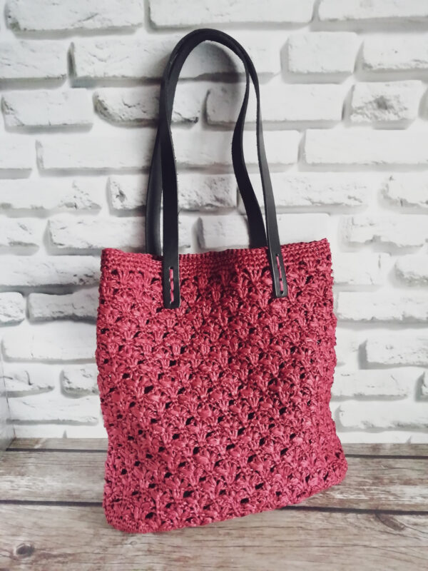сумка шоппер из рафии