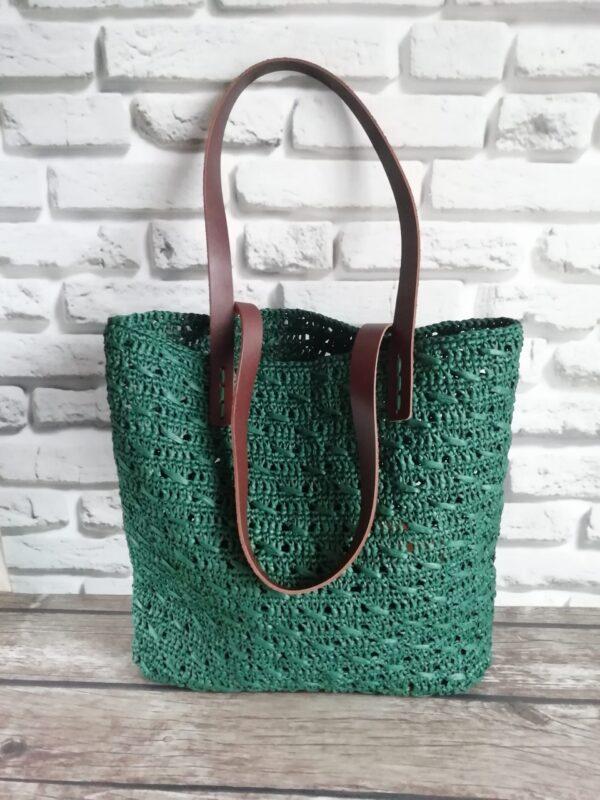 Вязаная сумка шоппер